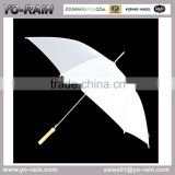 White Polyester Material and Umbrellas Type Cheap Promotional Umbrellas with Wooden Handle