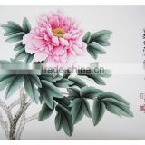 Wall decoration peony diy paint by numbers chinese painting