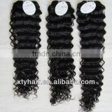 Hot new products for 2013 braided weft extensions brazilian human hair alibaba express