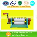 Supply beeswax foundation manual coining mill machine