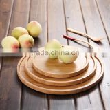 Wholesale Round Bamboo food Tray Serving Tray Wood Tray