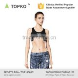 TOPKO women padded elastic band sexy yoga sports bra fitness cross back yoga tank top yoga bra