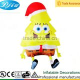 4 Feet New Inflatable SpongeBob SquarePants Christmas Indoor Decorations Airblown