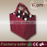 2015 Hot Selling Eco-friendly 6 bottle wine bag                                                                         Quality Choice