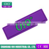 OIO brand logo customized rectangle shape pvc label design logo for garment clothing & jeans