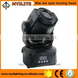 high quality discotheque equipment 90w led mini spot moving head