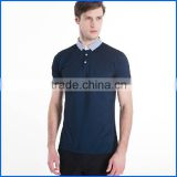Newest design stand collar polo shirt and button up polo shirts or cheap plain tshirts accept OEM service