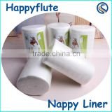 biodegradable & flushable diaper liners,disposable baby cloth diaper liner,soft bamboo nappy liner