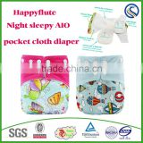 happy flute night AI2 sleepy cloth baby diaper cotton reusable diaper manufacturer factory