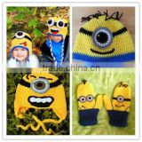 children beanies crochet minion mittens minion baby knitted hats patterns cute baby boy crochet hat