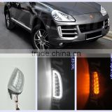 For Porsche accessories Cayenne LED Daytime Running Light Cayenne LED DRL Lights with LED Turn Signal lights with CE E4
