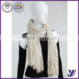 Good quality jacquard cashmere felt winter knitted infinity scarf pashmina scarf (Can be customized)
