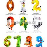 Hotsale Cheap inflatable alphabet shaped animal shaped helium letter foil balloon party decoration
