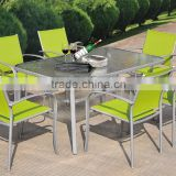 Outdoor Balcony Patio Garden 7pcs table and sling chairs furniture dining set