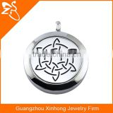 Stainless steel wholesale aromatherapy necklace perfume charm pendants with different pattern