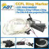 4pcs CCFL Angel Eyes Halo Rings Kit WHITE Work for E46 A+B non projector (98-on)