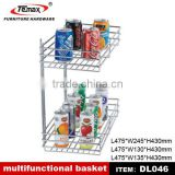 DL046 Top Hot Selling Hot Sale 2 Tier Wire Fruit Basket