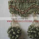 New Design Ball Fringe For Window Treatment; Pom Pom Curtain Fringe