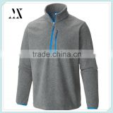 OEM Custom Wholesale Stylish Half Zip Fleece Jacket Mens 100% Polyester Fleece Pullover