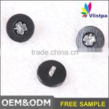 Dongguang garment accessories plastic 8mm black combined button for shirt