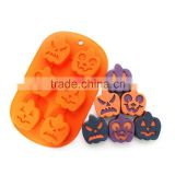 Halloween pumpkin silicone cake molds chocolate candy mould kitchen baking Cookies Cutter 3D Cake Decorating Tools