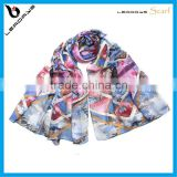 plaid colorful printing turkish hijab scarves