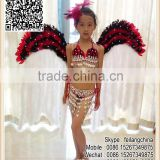 Sale Masquerade Red Black Feather Angel Wings For Children Costume