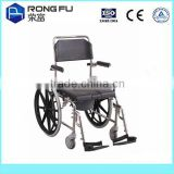 Medical device stainless steel hospital commode wheelchair                                                                         Quality Choice