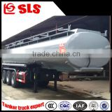 China price cheap tri-axle aluminum alloy chemical transport tanker semi-trailer with air bag suspension