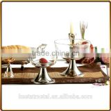 silver or nickel plated base with glass fruit bowl for decoration and wedding