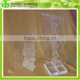 DDU-0008 ISO9001 Chinese Factory Made SGS Test Desktop Clear Acrylic Eyewear Display Stand