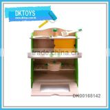 Play House Toy Wooden Kitchen Toy Kit With Cooking Set