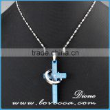 Fashion necklace custom jesus cross pendant bottle antique wholesale stianless steel jewelry