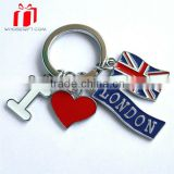 Promotional Custom Logo Cheap Advertising Keychains With Coin For Business Gift/advertising