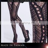 Unique black spandex multi pattern tights