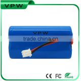 18650 li-ion rechargeable battery pack 11.1v 2000mah for portable dvd players