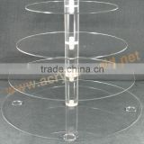 acrylic 7 tiers cake display stand/acrylic cake tower wholesale/acrylic wedding cake stands for sale