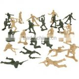PLASTIC ARMY MEN Green vs Tan Soldier Figures/Custom 100pc Troops Plastic Figures Toy China Factory