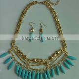 Turquoise Jewelry set necklace and earrings Fashion designs