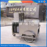 ys customzied snack bar design bike food cart 3 wheels electric bicycle tricycle food hotdog cart