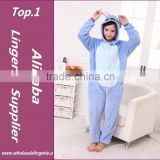 2015 Walsonstyles Cheapest Winter animal Onesie pajamas jumpsuit flannel adult blue stitch pajama