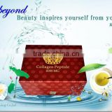 Beauty supplements for skin moisturizing & whitening high quality FISH COLLAGEN PEPTIDE rich hyaluronic acid & COENZYME Q10