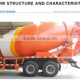 DALI CIMC Good/high quality Self matching chassis A cement mixer Tank of concrete mixing truck