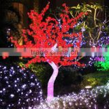 Home garden decorative 210cm Height outdoor artificial red flashing LED solar lighted up trees EDS06 1417