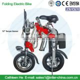 12inch Torque Sensor Model;36v electrical bicycle ; portable e bike; Lithium battery; with Aluminium Alloy Frame