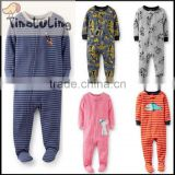 TinaLuLing Best Selling Baby winter one piece jumpsuits,baby footie pajamas