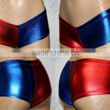 walson Halloween Cosplay Harley Quinn Shorts Suicide Squad Harlequin Shiny HOT Pants