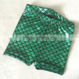 Green Sparkle Fish Scale Mermaid Children Costume Shorts