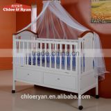 INquiry about New design mulitfuntional wooden baby cot/ baby cribs with 2 underneath drawers baby bed