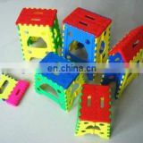 Cute and popular mini portable plastic folding step stool hot sale colorful foldable step stool
